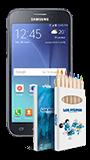 Comparar Samsung Galaxy J2 + Mini pack