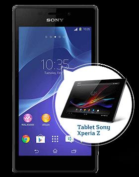 Xperia M2 con Tablet